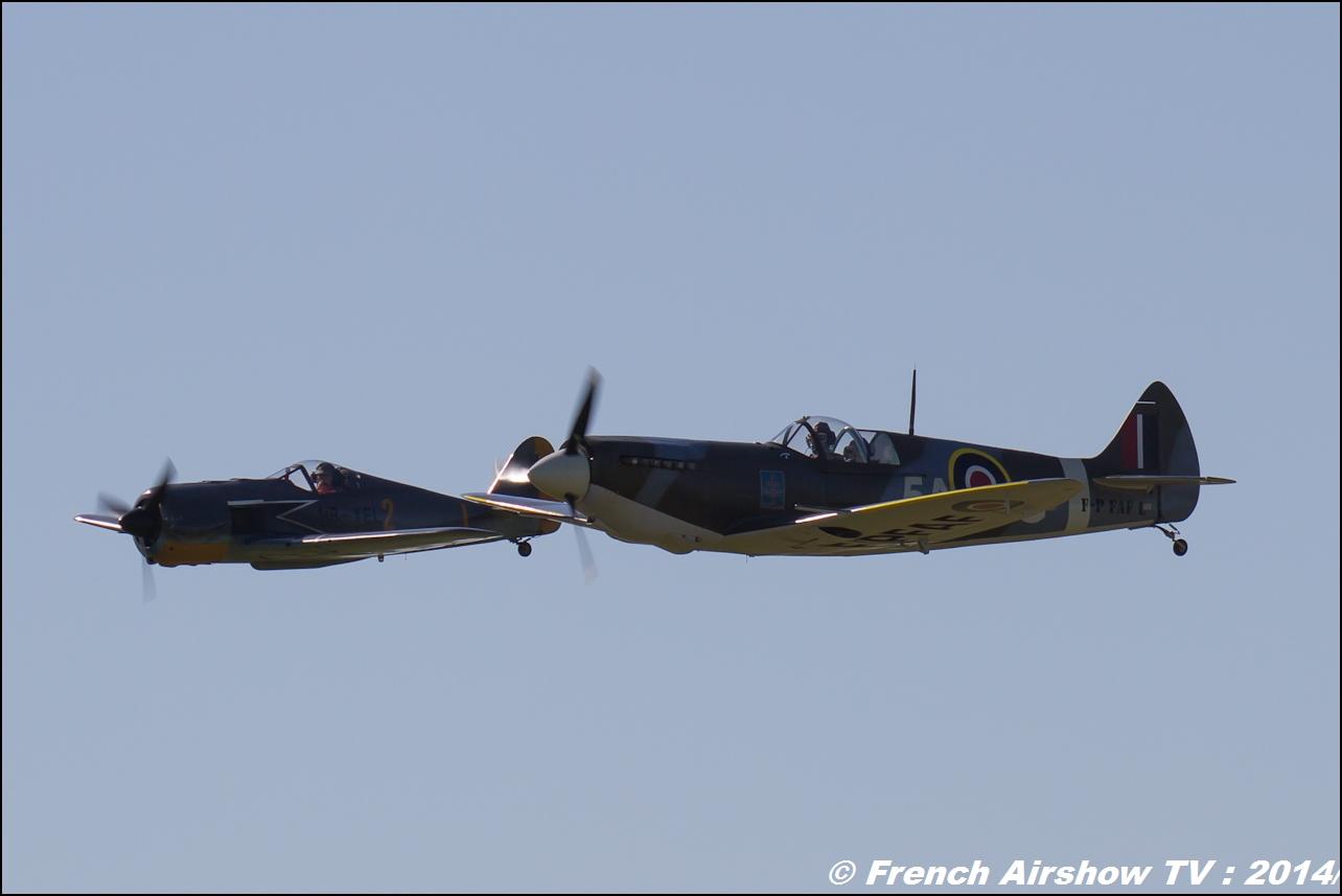 FW 190 HB-YEL & Spitfire F-PFAF