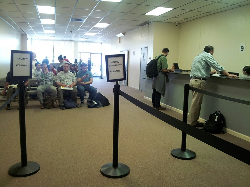 BLS International San Francisco Visa pickup line