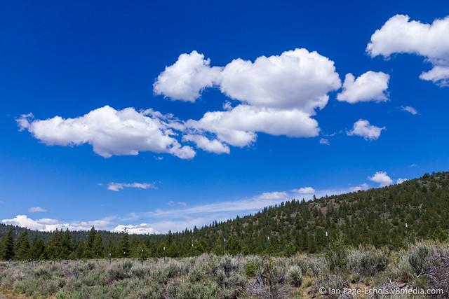 White Clouds & Deep Blue Sky