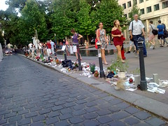 Protest of citizens of Budapest against whitewashing the role of Hungary in Holocaust