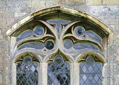 Decorated window tracery (14th C.), the Church of St Andrew, Folkingham, Lincolnshire, England