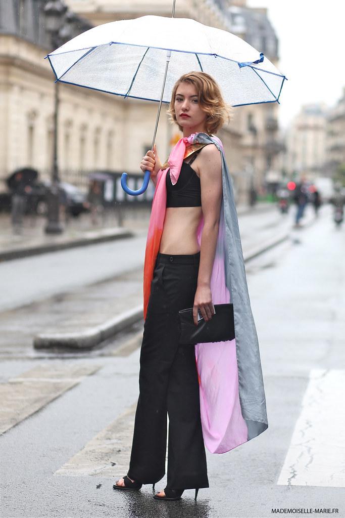 Mechtilde at Paris fashion week haute couture