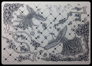 Zentangle® Inspired Art : Art for Sachie