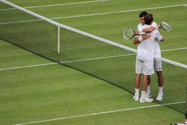 Radek Stepanek and Novak Djokovic