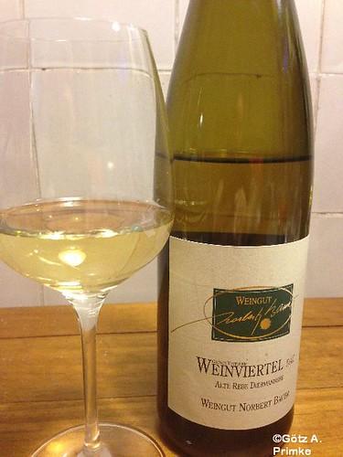 Spargel in Alufolie mit Schinken und 2011 Grüner Veltliner vom Weingut Norbert Bauer Mai_2014_03