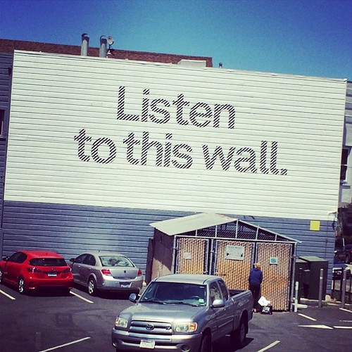 Listen to this wall. #sanfrancisco #kategoestocalifornia