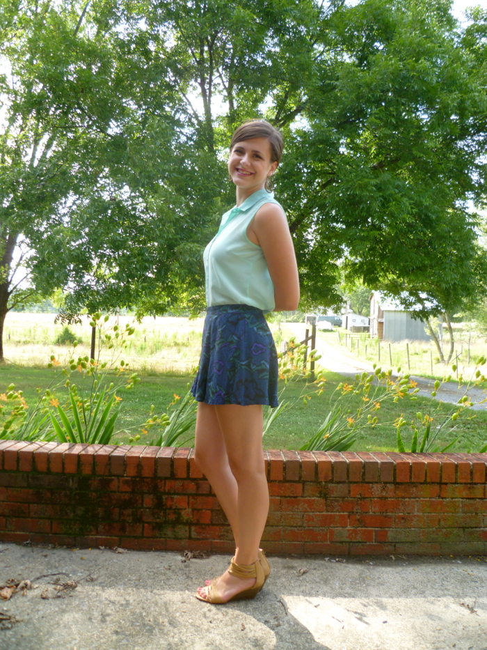 McCall's 6965 Skirt to Culottes Refashion- side by Hey, It's SJ