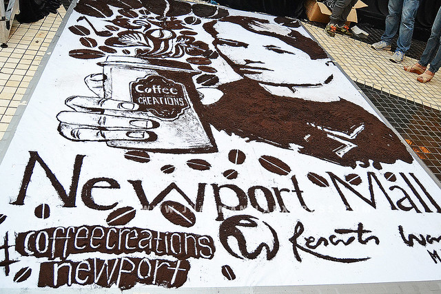 GROUND COFFEE ARTWORK. Vincent Navarro, young visual artist from Baguio did this coffee creations.