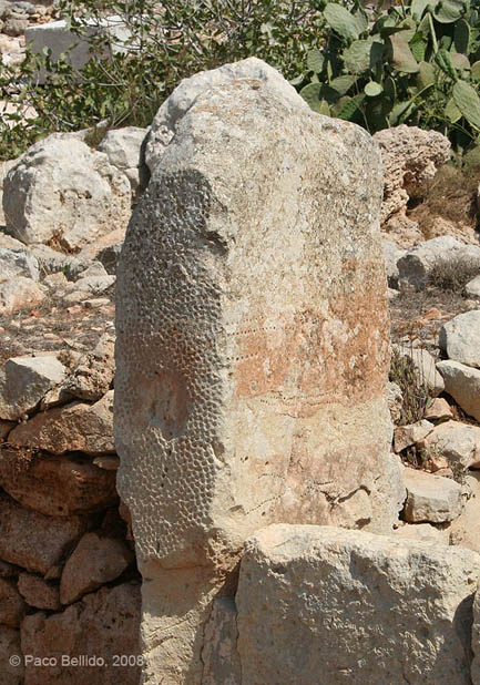 Calendario de piedra de Mnajdra. © Paco Bellido, 2008