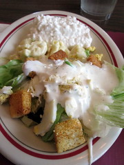 Tossed Salad, Macaroni Salad And Cottage Cheese.