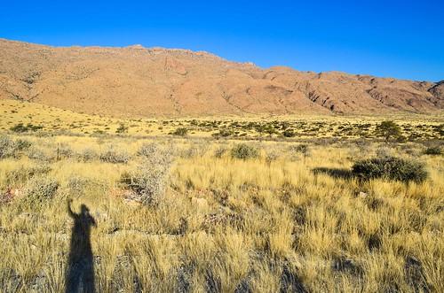 Couleurs du coucher du soleil en Namibie