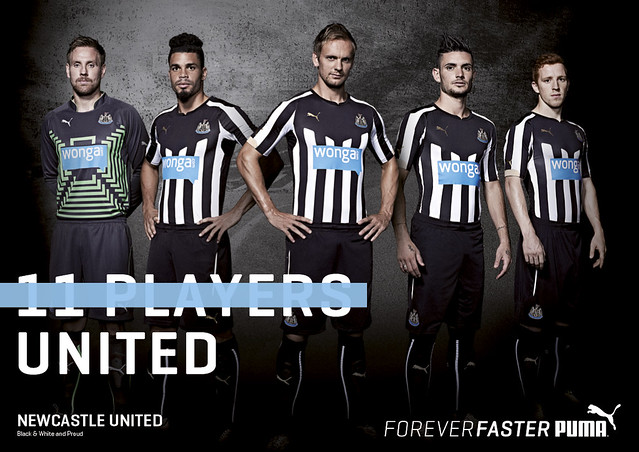 Newcastle United players model new Home Kit
