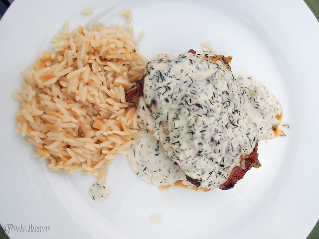 Chicken and Rice with Dill Cream Sauce