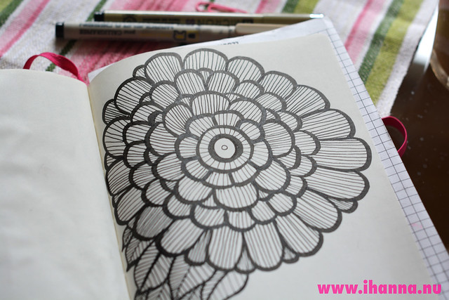 Diary Doodle: Big Fat Flower