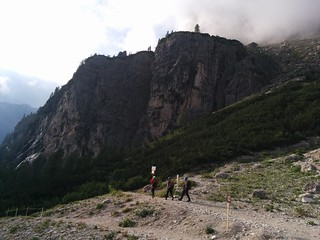 Ausgangspunkt Parkplatz Pisciadù Klettersteig