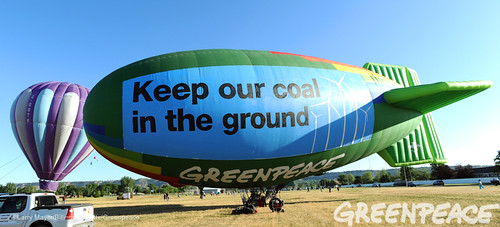Airship In Montana Balloon Rally
