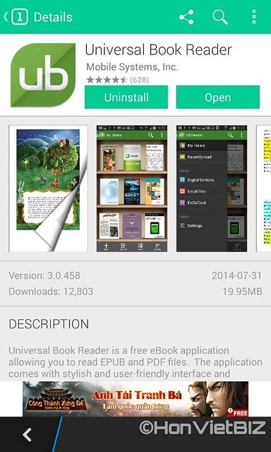 UBReader - Ứng dụng đọc sách epub trên BlackBerry 10