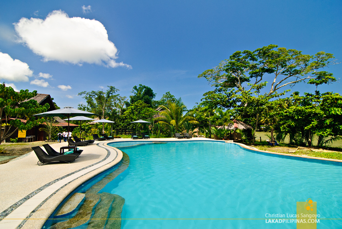 The Swimming Pool at the Loboc River Resort in Bohol