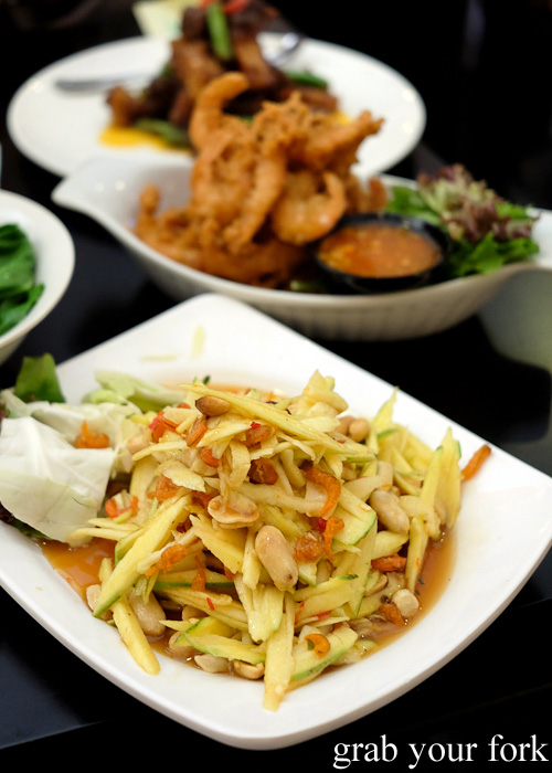 Som tum mango salad at Do Dee Paidang, Haymarket Chinatown Sydney