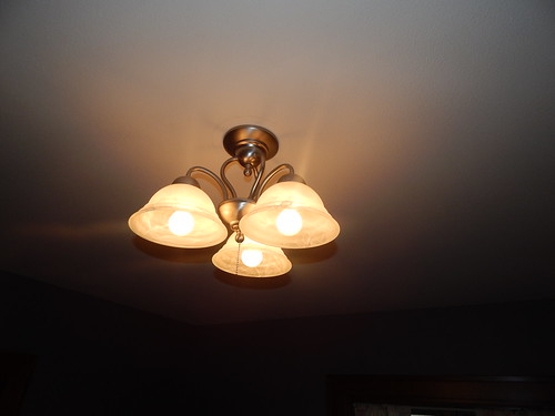 Sewing Room:  Overhead lighting