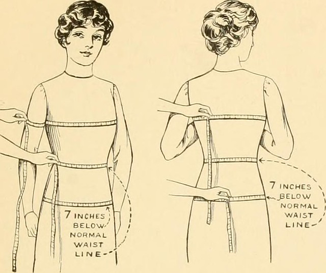 "Image from page 14 of ""The new dressmaker; with complete and fully illustrated instructions on every point connected with sewing, dressmaking and tailoring, from the actual stitches to the cutting, making, altering, mending, and cleaning of clothes for la"