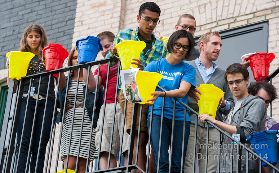 Communitech and D2L ALS icewater challenge 123