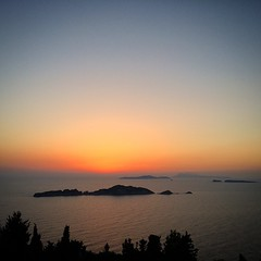 #sunset #tramonto #corfù #greece #noeffects