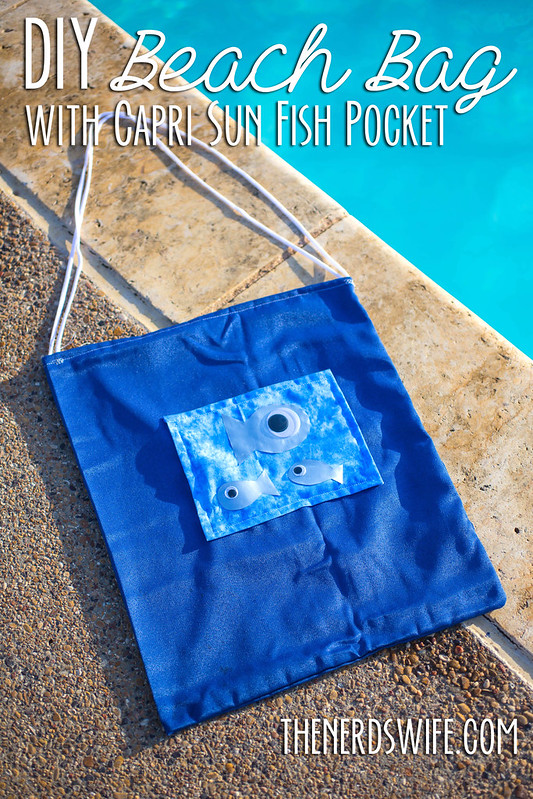 DIY Beach Bag Capri Sun #CapriSunMomFactor
