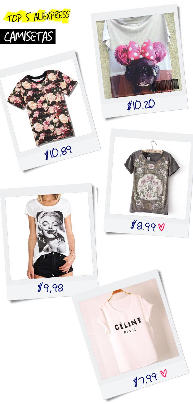 {top 5 AliExpress} Camisetas