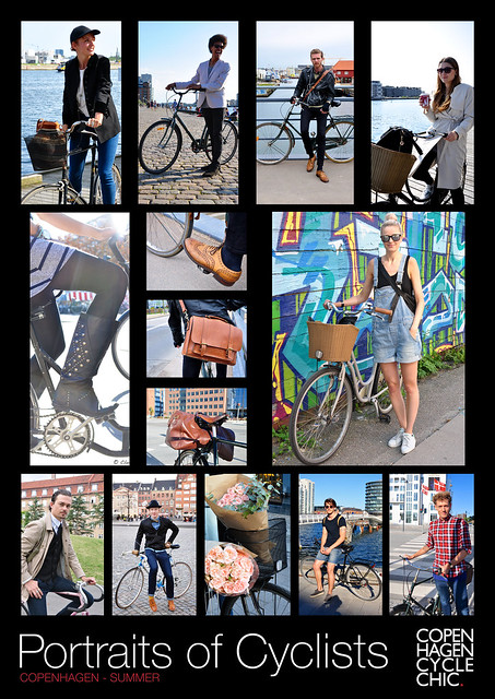 Poster - Portraits of Cyclists - Summer