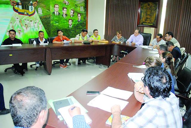 COE Chone se reunió y trataron varias  temáticas ante el fenómeno El Niño