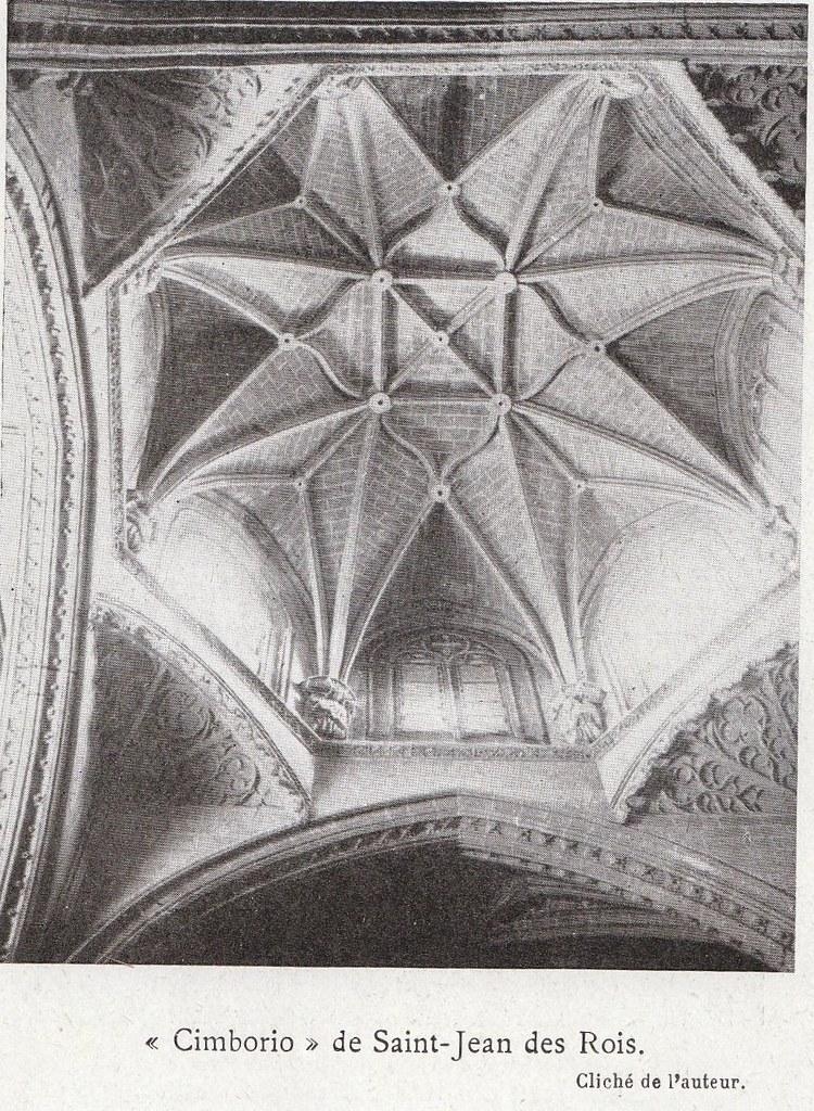Cimborrio de San Juan de los Reyes a comienzos del siglo XX. Fotografía de Élie Lambert publicada en su libro Les Villes d´Art Célebres: Tolède (1925)