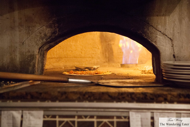 The House Specialty Pizza baking in the oven