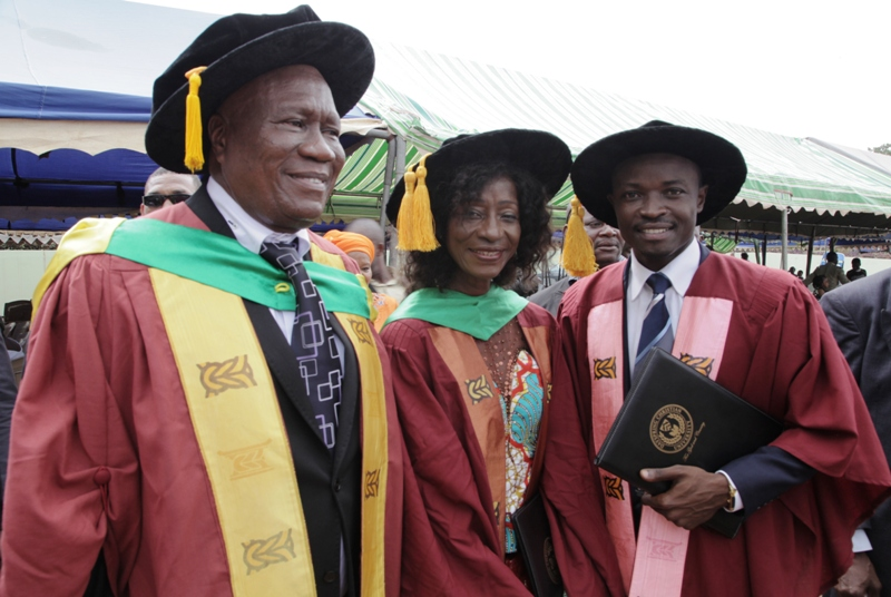 Dr. Kofi Portuphy, Dr. Sherry Ayittey and Dr. Jefferson Sackey