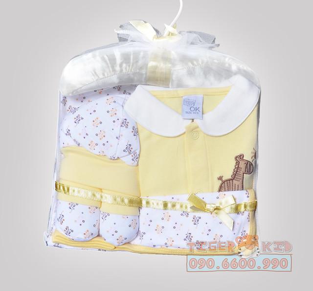 Quần áo trẻ em, bodysuit, Carter, đầm bé gái cao cấp, quần áo trẻ em nhập khẩu, M115 Set quà tặng 5 món cao cấp từ Thailand – đầy tháng cho bé sơ sinh