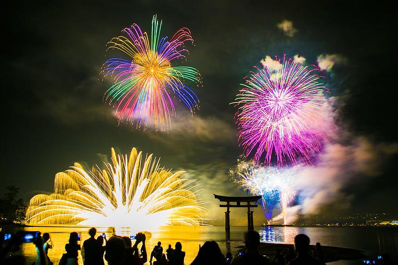 宮島水中花火大会2014Miyajima Water Fireworks Display(大鳥居前)225