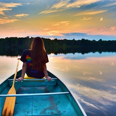 Sunset is my favorite time of the day!  #nature #sunset #outdoors #water #beauty #stunning #woods