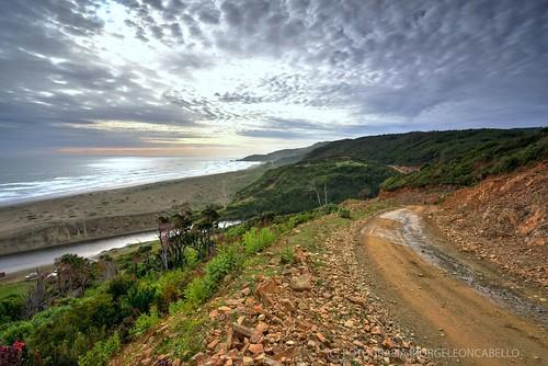 Huar Huar es una extensa y solitaria playa con grandes dunas de arena, ubicada en la comuna de Los Muermos 10 kilómetros al norte de Caleta Estaquilla proxima a Llico Bajo. Tiene una extensión de 3 kms,  practicamente deshabitada es muy conocida por sus grandes dunas, bosques nativos y bellos paisajes. Una tramo del futuro camino costero que se proyecta unira Chile de norte a sur recorriendo sus costas en esta parte se encuentra en sus primeras etapas de construccion con tramos aun solo para vehiculos 4x4.