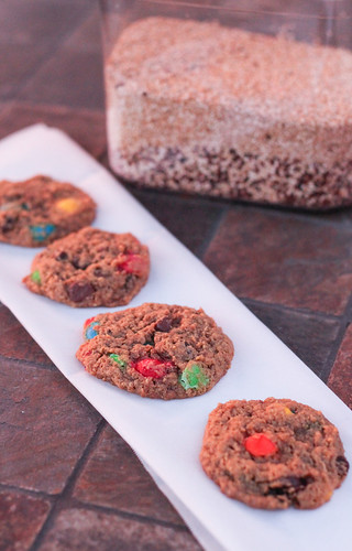 Chewy Quinoa Monster Cookies