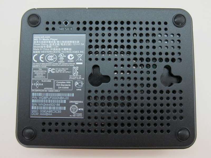 WD TV - Bottom