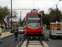 Streetcar vehicle returning to H/Benning permanently.