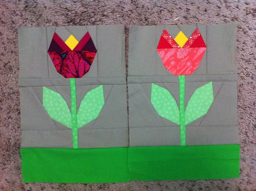 Two tulips for the Luna quilt.