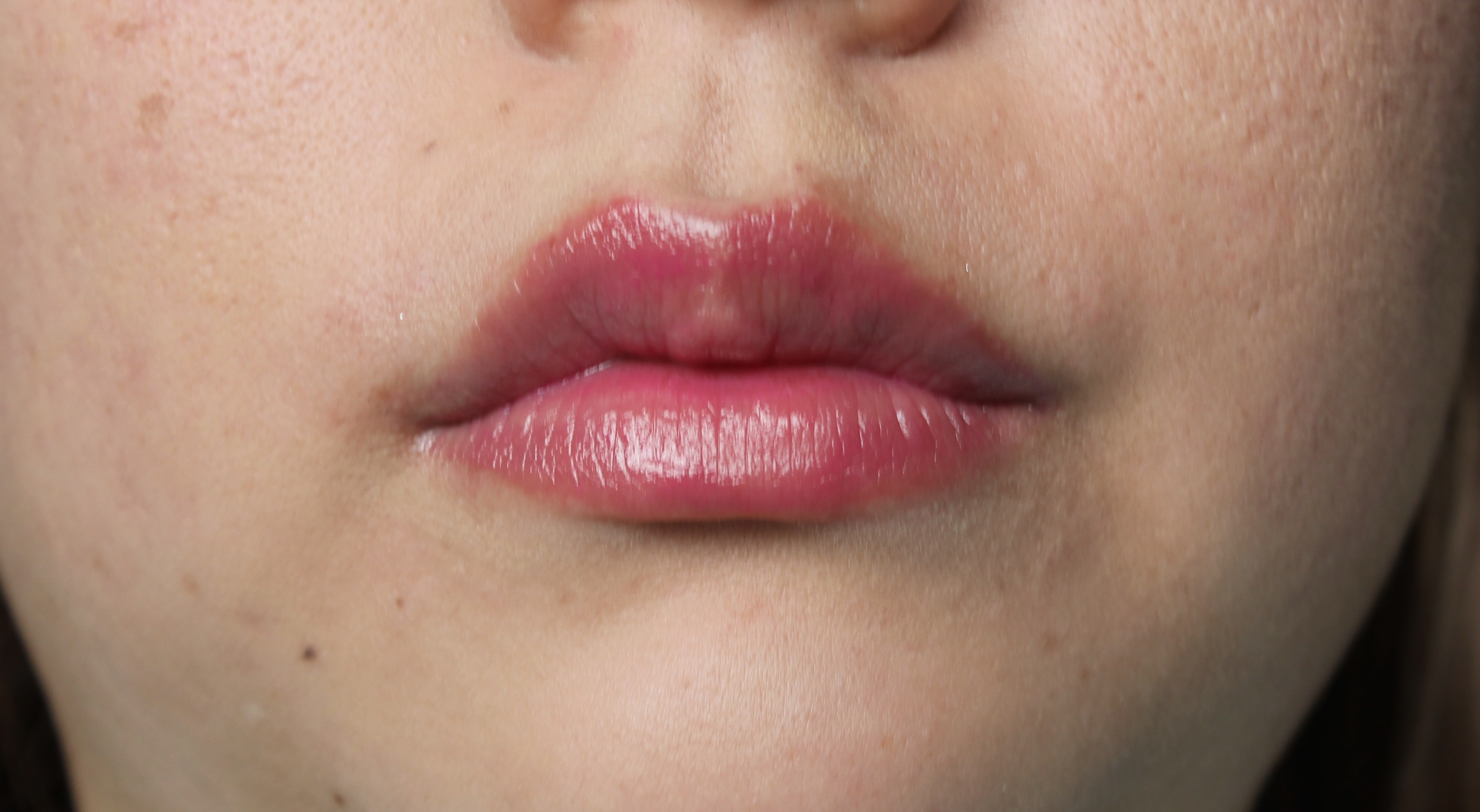 Tinted LIp Balm on Lips