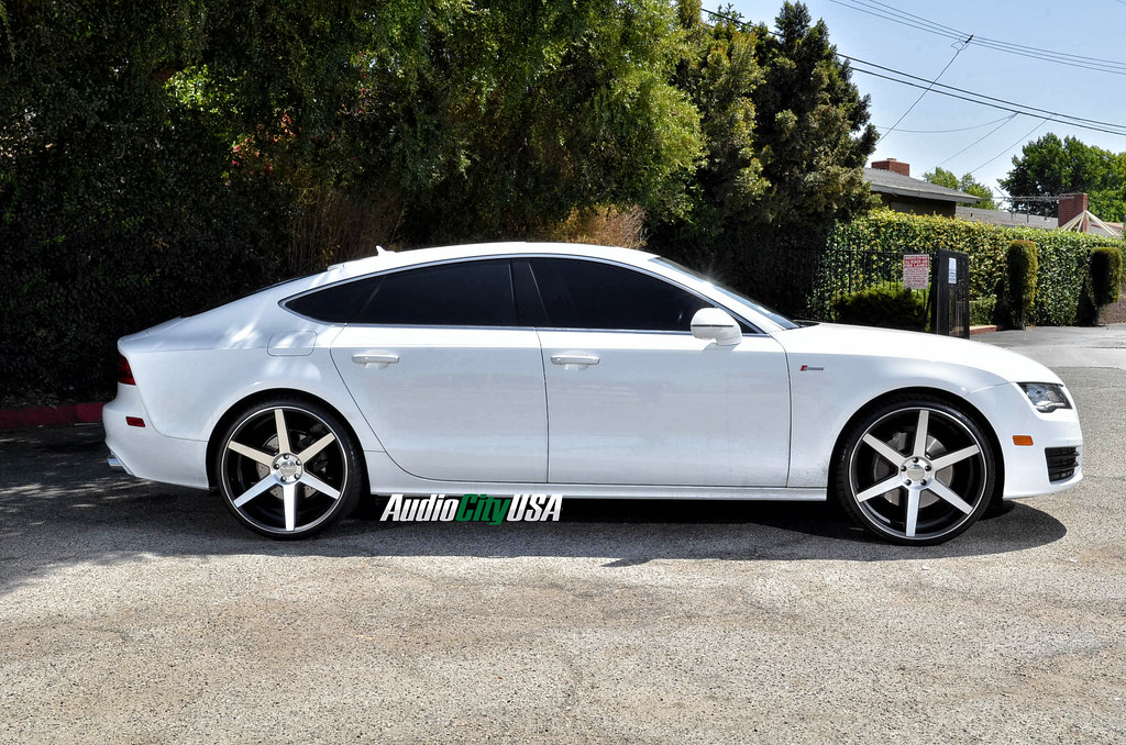 2013 Audi A7 On 22 Quot Azad Z84 Black Machine Wheels Deep