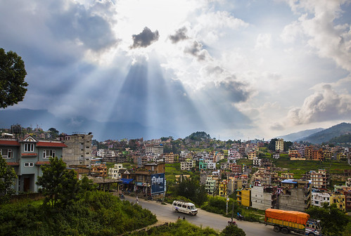 travel nepal light sun landscape photo day view cloudy kathmandu