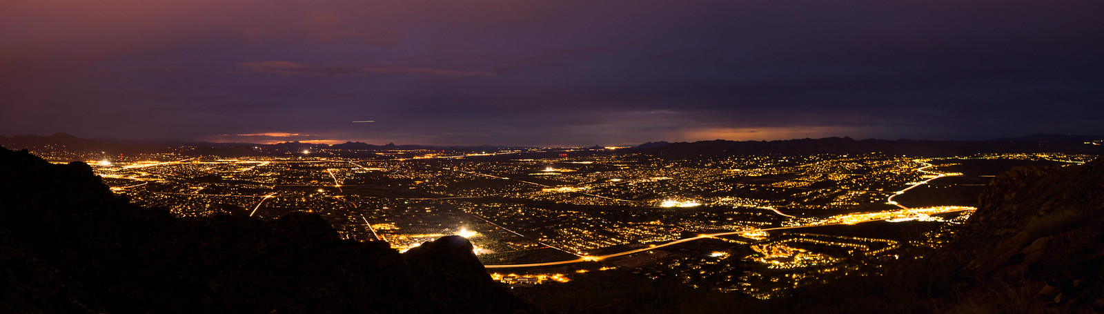 1409 City Lights from the Pusch Peak Trail