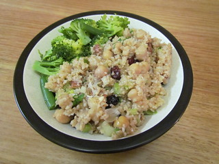 Bulgur Pilaf with Chickpeas and Cranberries