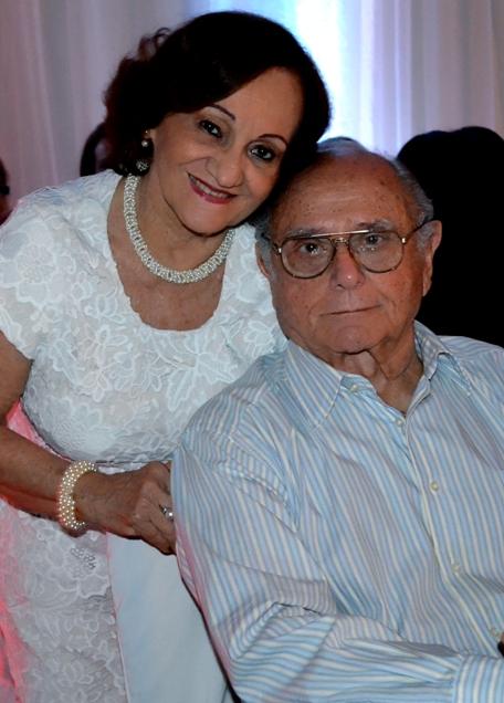 O casal Fortunato e Marlene Serruya