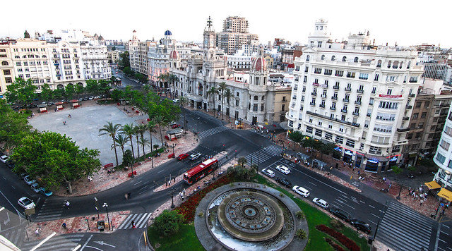 Valencia town square