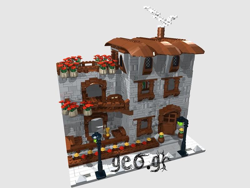 [Digital MOC]:Modular Cottage House 15123468760_828c7269be_c